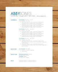 Free Resumes Templates To Download Cute Resume Templates