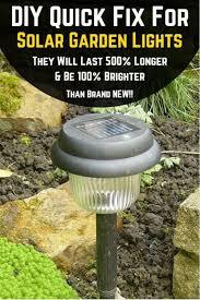 Solar Lights For The Garden Diy Quick Fix For Solar Lights