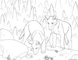 excellent wolf coloring page 9 4040