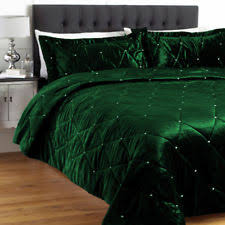 duvet covers u0026 sets in material velvet color green ebay