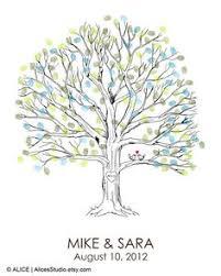 Wedding Tree Thumbprint Fingerprint Signature Wedding Tree By Specialprints
