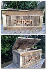 Barn Toy Box Woodworking Plans Rustic Pallet Wood Hope Chest Toy Box Entryway By Ruizwoodworks