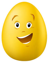 talking easter eggs transparent easter talking yellow egg png clipart picture