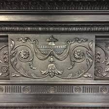 antique victorian cast iron fireplace surround salvoweb com
