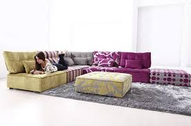 Funky Ottoman Living Room Delightful Image Of Colorful Living Room Decoration