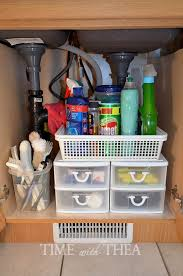storage ideas for kitchen cupboards kitchen sink cabinet storage ideas time with thea