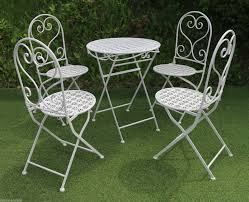 White Metal Patio Chairs Furniture Sturdy And Comfortable White Patio Furniture Berkane 4