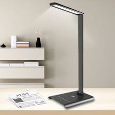 le 6w table study desk lamp dimmable 7 level brightness folding