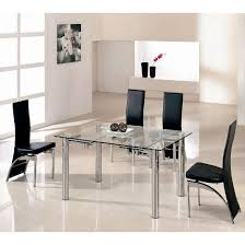 Extendable Dining Table Extending Dining Table In Clear Glass With Chrome