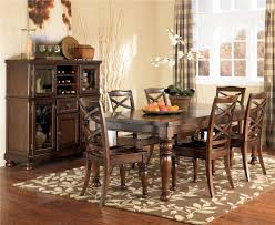 ashley furniture porter 7 piece rectangular extension table