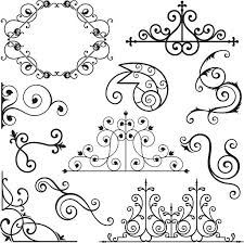 royalty free wrought iron gate clip vector images