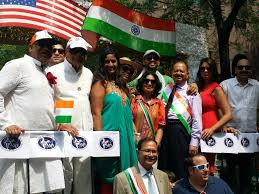 Indian Flag Hoisting Knot Star Studded 35th Annual India Day Parade At The Heart Of New York