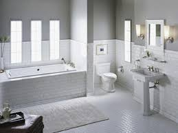 subway tile border bathroom cabinet hardware room white