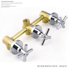2017 four way valve 3 handwheel shower valve bathroom bath and