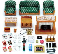SYLVANIAN Families Deluxe Living Room Set Dolls Furniture  EBay - Sylvanian families living room set