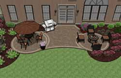 Backyard Paver Patios Pre Priced Patio Designs Dayton Schneider S Landscaping