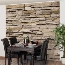 Schlafzimmer Mit Holz Tapete Steintapete Asian Stonewall Steinmauer Aus Großen Hellen