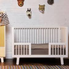 sparrow crib toddler bed conversion kit in white and luxury baby