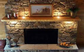 rustic fireplace wallpaper stovers