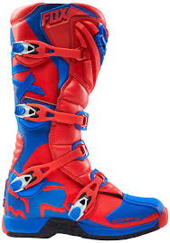 blue motocross boots fox mtb knee pads fox comp 5 mx boots motocross red blue fox 180