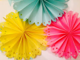 diy paper party decoration diy decorated paper fan backdrop wedding party decorations easy