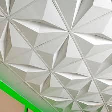 Cardboard Suspended Ceiling Tile Decorative Three In Drop Tiles