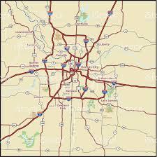 Map Missouri Kansas City Area Street Map Stock Vector Art 158193111 Istock