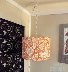 Diy Hanging Light Fixtures Diy Hanging Light L Shade Domestically Speaking