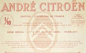 citroen siege social andre citroen 1 10 obligation 1000 francs 1936
