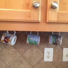 under cabinet coffee mug rack a simple kind of life updated coffee bar under cabinet cup rack cup