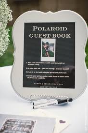 polaroid guest book album polaroid guestbook custom with our names grey linen the