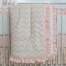 Pink And Aqua Crib Bedding Pale Pink And Gold Chevron Crib Bedding Carousel Designs