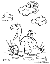 diplodocus and tree coloring pages hellokids com