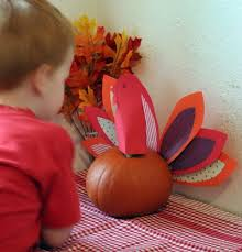 turkey pumpkins pumpkin turkey centerpiece make and takes
