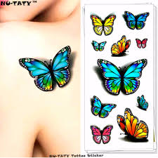 butterfly tattoo for back 3d butterfly tattoos reviews online shopping 3d butterfly