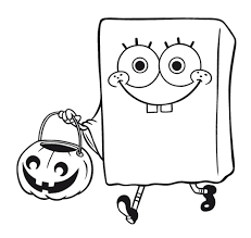 spongebob squarepants halloween coloring pages coloringstar