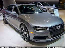 slammed audi a7 equipping the audi worthy garage at the chicago auto show