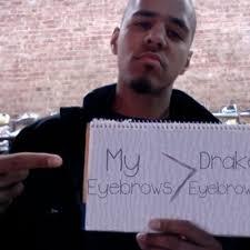 Bushy Eyebrows Meme - j cole eyebrows jcoleeyebrows twitter