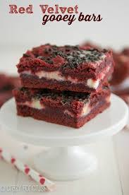 red velvet gooey bars crazy for crust