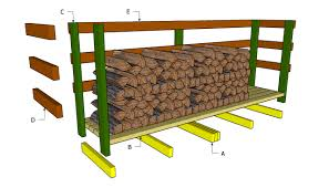 Small Wood Storage Shed Plans by Pallet Firewood Rack Plan Palletprojects Pallets Http