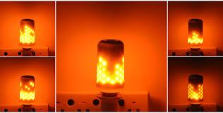 e26 e27 2835smd 7 5w 3 modes led flame effect fire light bulbs
