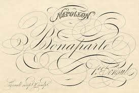 spencerian script napoleon pen flourishing the graphics fairy