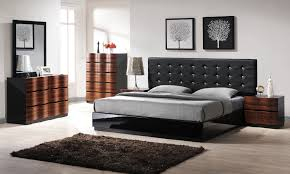 mesmerizing queen modern bed wood construction black high gloss