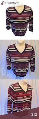 black and white striped l shade talbots ps sweater black white stripe boat neck brand talbots