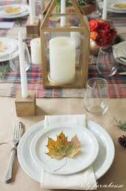 simple thanksgiving table modern rustic diy candle holders thanksgiving table