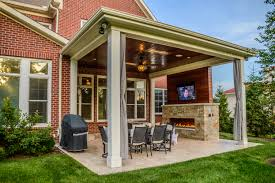 Outdoor Patio Fireplaces Outdoor Living Space With Covered Patio And Fireplace In Mason Oh