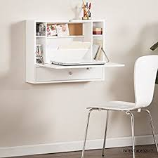 amazon black friday white desk amazon com prepac wall mounted floating desk with storage in