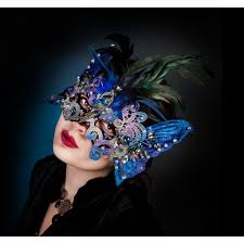 blue masquerade masks blue masquerade mask swarovski crystals mask masquerade