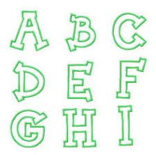 here is a list of my applique alphabets and numbers first just a