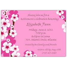 adorable and cute retirement party invitation design with pink